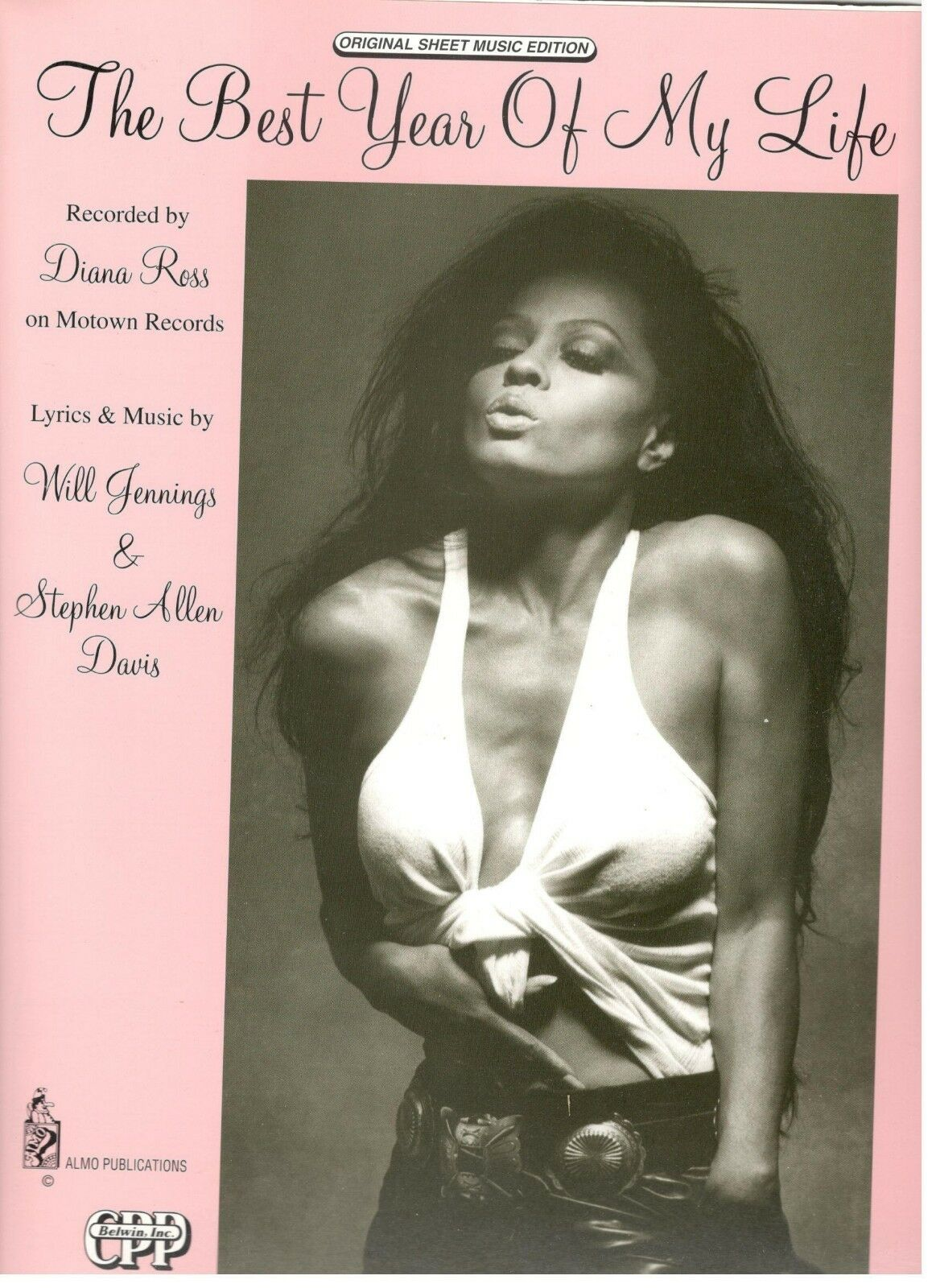 DIANA ROSS  THE BEST YEAR OF MY LIFE  SHEET MUSIC-EXTREMELY RARE-1993-NEW-MINT