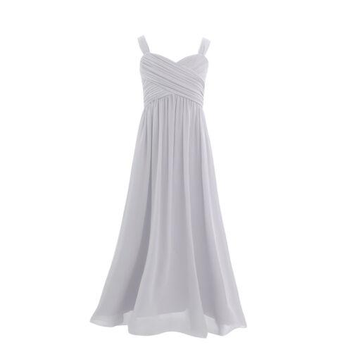 Chiffon Flower Girl Princess Dress Party Long Dress for Kids Wedding Bridesmaid