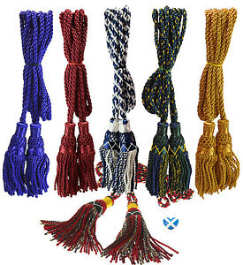 Folk & World Pipe Cords For Drones Of Bagpipes Silk Silver Pipe Cords High Quality Wind & Woodwind