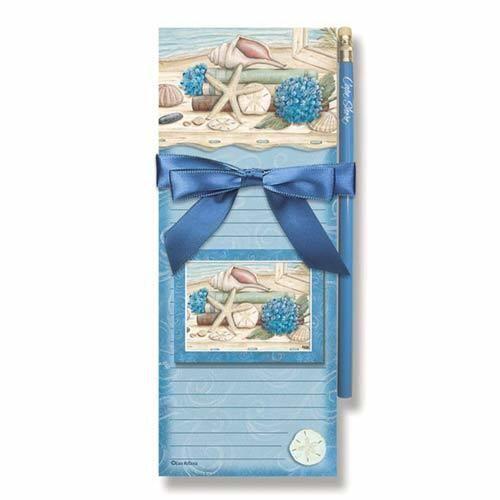 Beach Seashells Magnetic List Pads /& Magnet 91-072