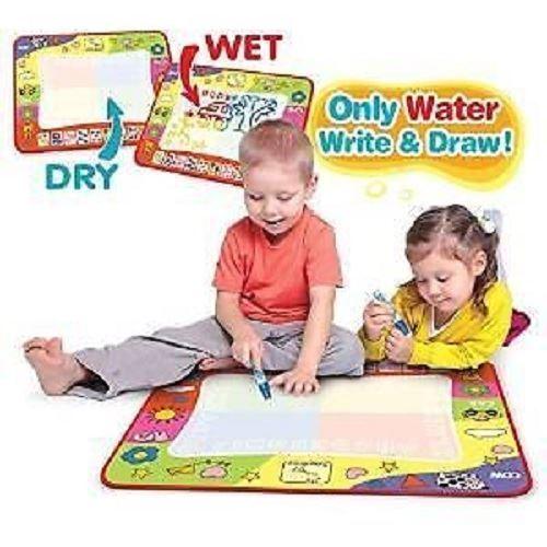NEW MAGIC DOODLE MAT KIDS BOARD TOY WRITING PAINTING MAGIC PEN WATER DRAWING FUN