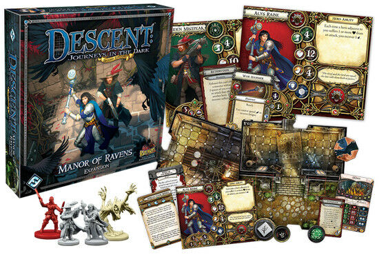 Descent: Manor of Ravens Expansion - Fantasy Flight - Factory Sealed