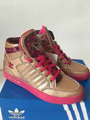 Adidas Women's Hardcourt Hi W Gold/Pink Size 6 NWB