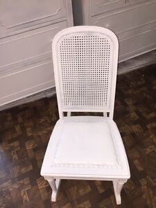Image Is Loading Vintage Shabby Chic Rocking Chair With A Cane