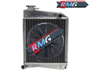 2Row Aluminum Radiator Fit For 59-97 Austin Rover Mini Cooper 1275 Racing Fan