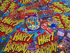 BIRTHDAY-PARTY-PACK-ANY-AGE-BIRTHDAY-PARTY-FLAGS-BANNERS-BADGE-BALLOONS-ALL-AGES