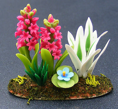1:12 Scale Single Hyacinth Flower Tumdee Dolls House Miniature Garden Accessory