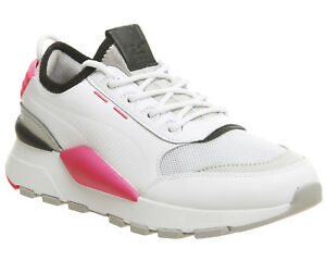 398d193e491 Womens Puma Rs-0 Sound Trainers Puma White Grey Knockout Pink ...