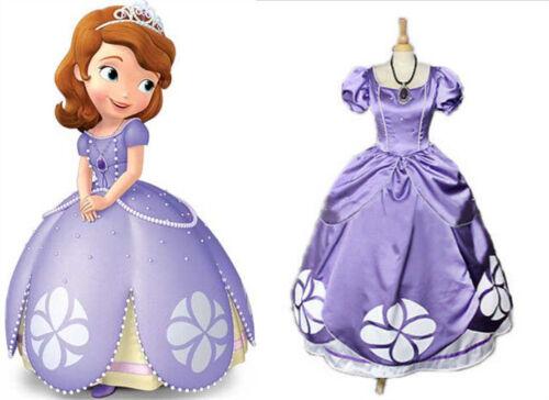 NEW Sophia Sofia The First Princess Purple Dress Cosplay Costume