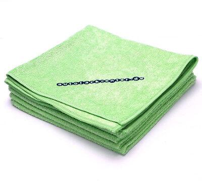 Microfasertuch Poliertuch Poliertücher 5 Stück grün 40cm X 40cm E0096