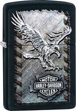 Zippo 28485, Harley Davidson-Eagle, Black Matte Finish Lighter, Full Size