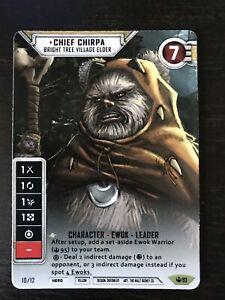 Star Wars Destiny 1X Alt Art FOIL ADMIRAL V2 Upgrade - Title SoH