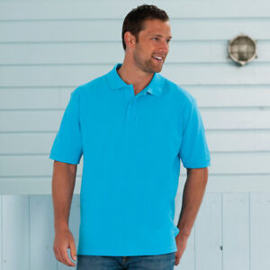 Russell-Classic-Cotton-Pique-Polo-Shirt-Mens-Easy-Fit-Classic-Style-Tshirt-Top