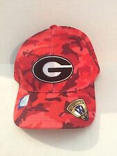 new product 22cd7 e37a0 Georgia Bulldogs Top of the World Gulf Camo Stretch fit hat M L Red