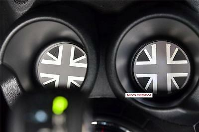 2 pcs set for 2014 on BMW MINI Cooper F56/F55 S Black Union Jack Cup coaster