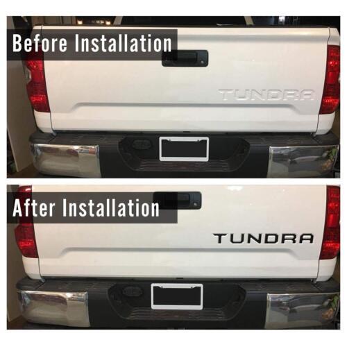 Toyota Tundra Tailgate Matte Black Letter Insert Badge for 15-18 Toyota Tundra