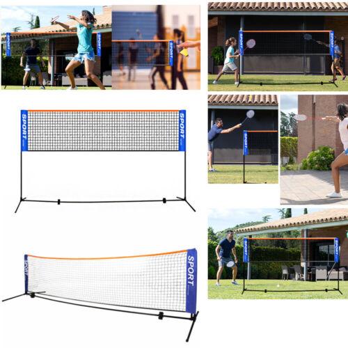Outdoor Sport Training 5.1M Portable Badminton Net Volleyball Net Set Frame