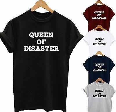 Ehrlich Queen Of Disaster Funny Slogan T Shirt Lana Del Rey Gift Idea Party Top