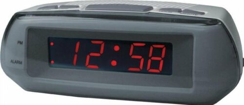 Acctim Metizo Alarm Clock Red LED 14017 Snooze Mains Powered With Backup