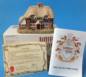 Lilliput-Lane-Madreselva-Cottage-miniatura-casa-Ingles-con-caja-escritura-1984-00052