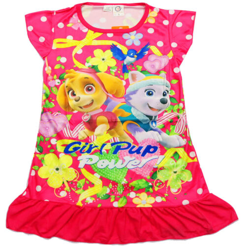 NEW Sz 38 KIDS SUMMER PYJAMAS TSHIRT PAW PATROL NIGHTIE GIRLS BOYS PJ PJS TEE