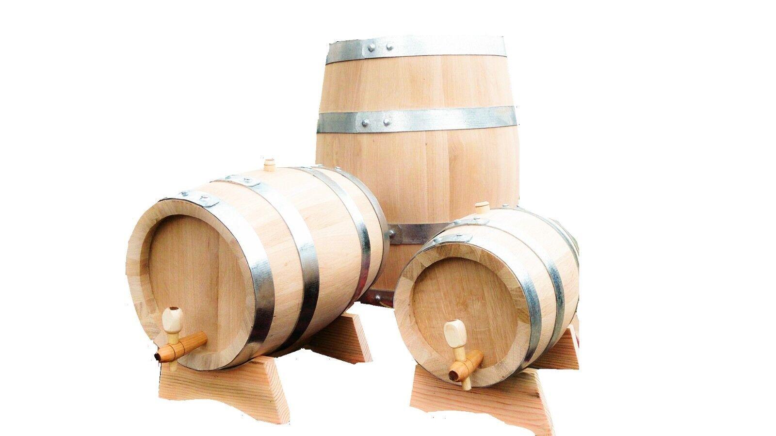 Neuf Chêne en Bois Tonneau, 30l, Vin Whisky, Cidre Eau, Bière