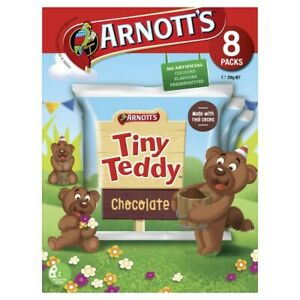 Arnott's Tiny Teddy Chocolate Biscuits 8 pack 200g