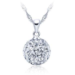Shamballa-Halskette-925er-Sterling-Silber-Swarovski-Elements-Anhaenger-Zirkonia
