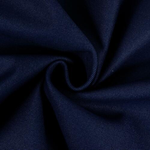 Preis=0,5m Baumwollköper dunkelblau uni Damenstoff Modestoff einfarbig