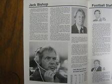 1988 Southern Utah State College Football Media Guide(JACK BISHOP/THANE MARSHALL