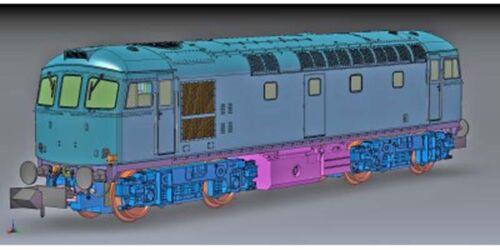 Dapol Class 33//0 D6561 BR Green Full Yellow Front N Gauge DA2D-001-008