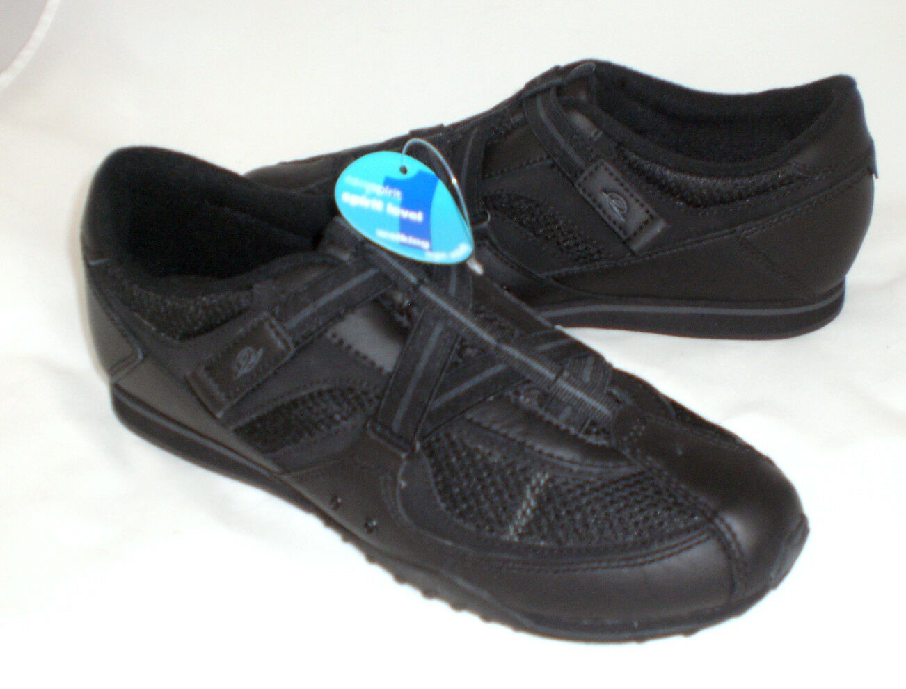 Easy Spirit Danin athletic  chaussures noir  leather leather leather 9.5 NARROW New 5143eb