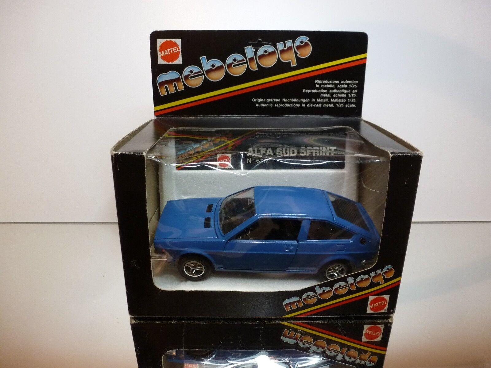 MEBETOYS 6717 ALFA ROMEO ALFA SUD SPRINT - blueE 1 24 - VERY GOOD IN BOX