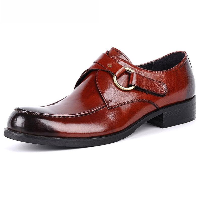 prezzi bassissimi New Uomo Real Real Real Leather Dress Formal scarpe Oxfords Derby FH2522  in vendita
