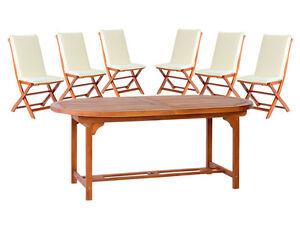 Tavolo ovale tondo 150 allungabile 200 legno 6 sedie giardino