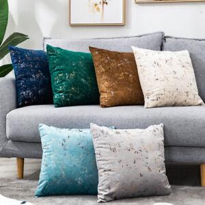 2 X Velvet Pillow Cushion Cover Bronzing Throw Pillow Case Sofa Pillowcase