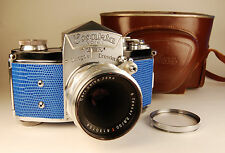 Ihagee EXAKTA VAREX VX 35mm German camera. Tessar 50mm lens, Custom  lizard skin
