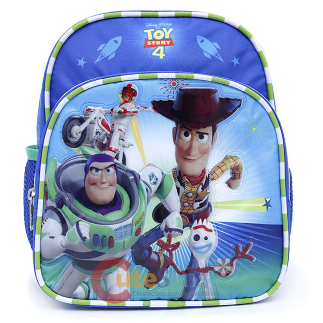 """Disney Toy Story School Backpack Small 10"""" Toddler Bag Buzz Woody Bag"""