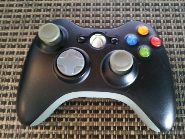 Official Genuine Microsoft Xbox 360 Wireless Controller Black ~ Tested & Cleaned