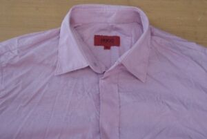 Q230-Hugo-Boss-Red-Label-Groesse-M-rosa-Herren-Hemd-Herrenhemd-Langarm