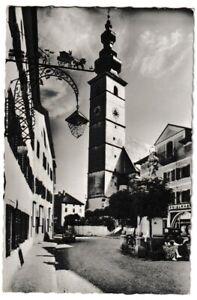 Ansichtskarte Fremdenort Waging am See/Oberbayern - Am Marktplatz - schwarz/weiß