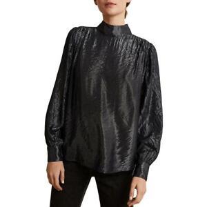 Velvet Womens Metallic Turtleeck Shirt Blouse Top BHFO 1758