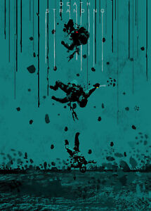 Death Stranding Game Digital Art Poster Print T1204 A4 A3 A2 A1 A0 