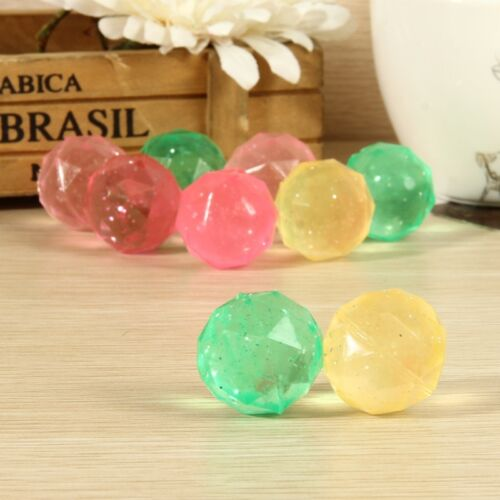 10x Diamond Shape #V Bouncing Outdoor Toys Kids Game Elastic Juggling Jump Balls