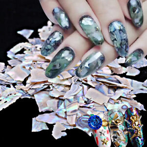 Mother Of Pearl Shell Nail Art Foils 3d Tips Design Diy Marble