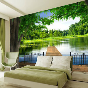 3d Sitting Room The Bedroom Embossed Natural Scenery Background