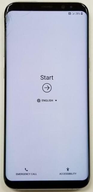 Samsung Galaxy S8+ G955U 64GB Arctic silver Verizon Please See Pictures 3643