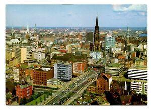Hamburg Germany Postcard East West Street Buildings Cars