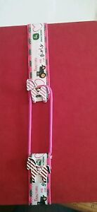 handmade bookmark green tractor for girls pink ribbon birthday gift pony buttons - Scarborough, United Kingdom - handmade bookmark green tractor for girls pink ribbon birthday gift pony buttons - Scarborough, United Kingdom