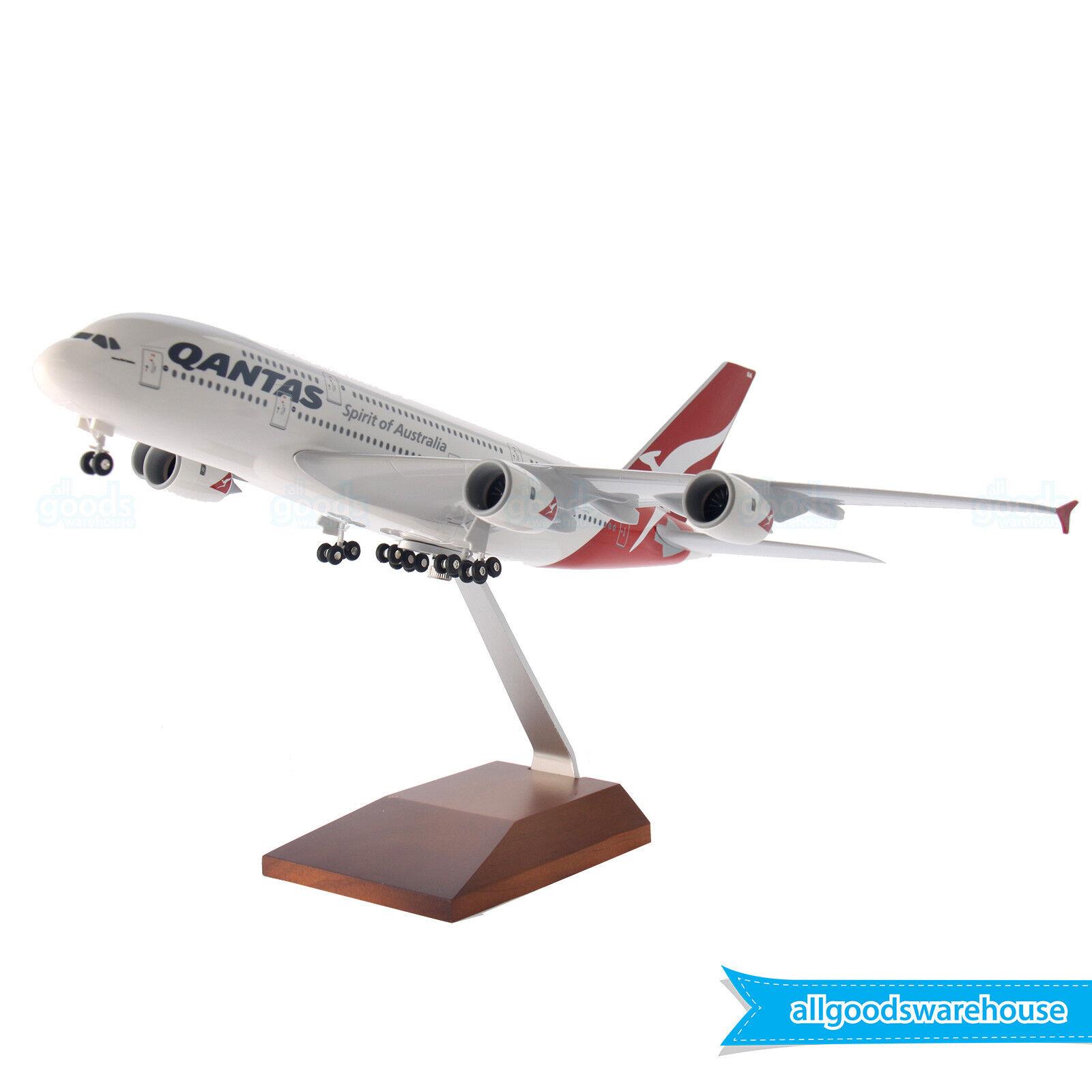 Qantas Airbus A380-800 VH-oqa 1 200 Escala Modelo Plástico réplica A380 aviones